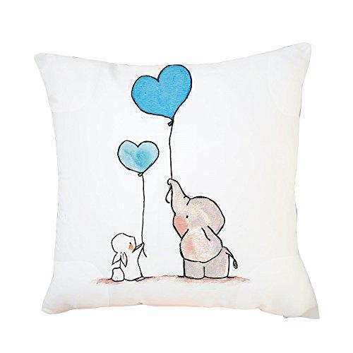 FeiliandaJJ Kissenbezug 45x45cm Pillowcase Kopfkissenbezug,Elefant Niedlich Drucken,Valentinstag Weihnachten Neues Jahr Geschenk,für Wohnzimmer Sofa Bed Home (C)