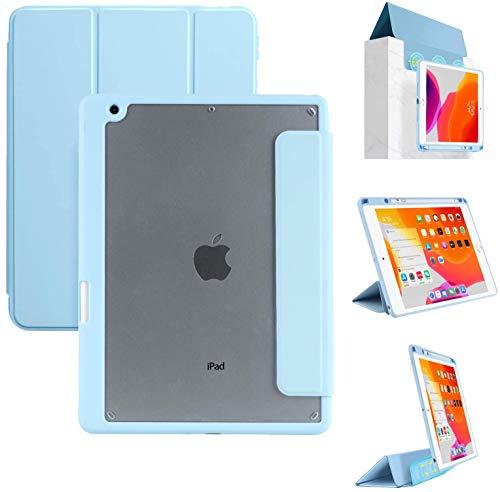 Tasnme Funda para iPad Air3 de 10,2 pulgadas, parte trasera y cubierta delantera desmontable, para dormir y desactivar juegos iPad Air 3 10,2 iPad funda azul