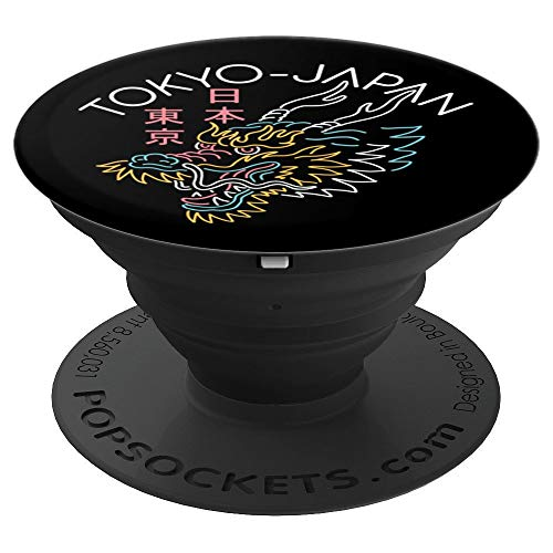 Tokyo Japan Dragon PopSockets Grip and Stand for Phones and Tablets