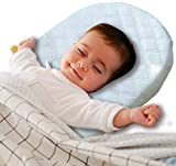 Sunshine Linens Baby Wedge Pillow for Reflux Sleep - Infant, Newborn Colic & Congestion - Universal Bassinet Pram Moses Basket Stroller Crib Cot Bed - Nights Safety Foam Easy Comfort (Sold as Single)