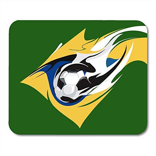 Mauspads Cup Ball Brasilianisches Fußball Billboard Brasilien Champion Championship Club Mauspad für Notebooks, Desktop-Computer Matten Büromaterial