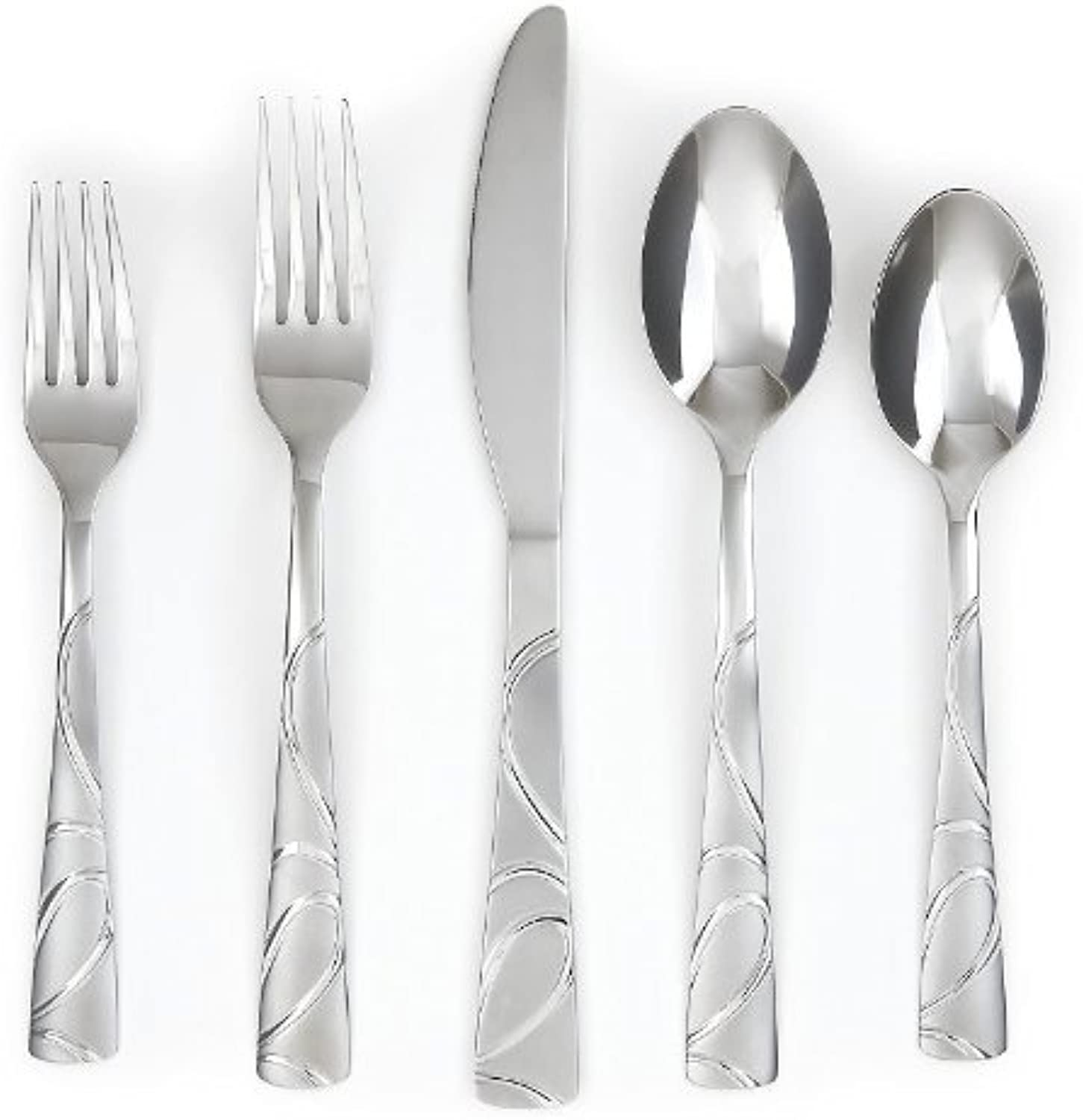 Cambridge Sasha Sand 42 Pc Flatware Set.