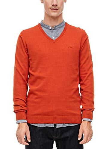 s.Oliver Herren Pullover orange melange L