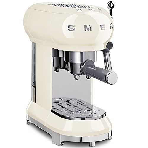 SMEG Macchina da caffè Espresso ECF01CREU, 2 Cups, Crema