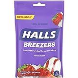 Halls Breezers Creamy Strawberry Throat Drops - 25 Drops (1 bag of 25 drops)