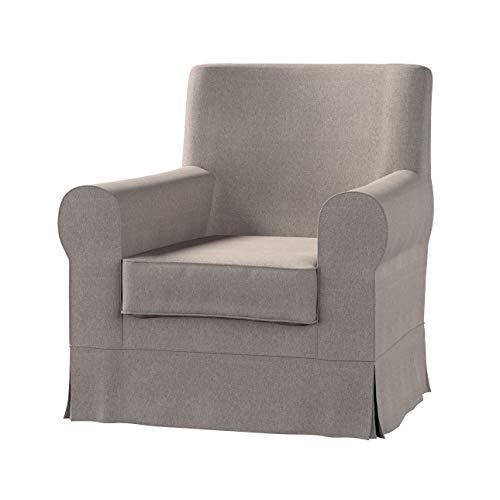 Dekoria Ektorp Jennylund Sesselbezug Sofahusse passend für IKEA Modell Ektorp beige-grau
