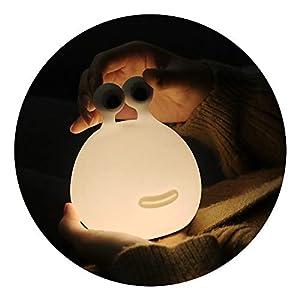 Hamrank Silicone Night Light for Kids,Cute Night Light for Nursery Girls, Portable USB Powered Animal Slug Night Light