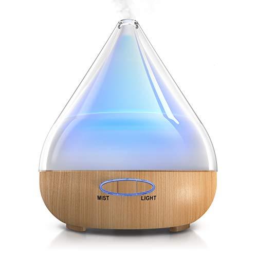 Arendo - Aroma Diffuser LED - 380ml Luftbefeuchter - Ultraschall - Oil Düfte Humidifier Raumbefeuchter Duftspender - LED mit 6 Farben - Raumerfrischer Duftspender Wohnzimmer Schlafzimmer Kinderzimmer