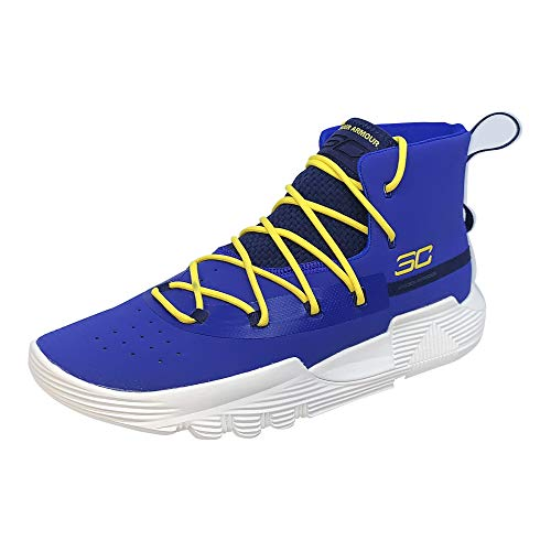 Under Armour Kids Grade School Sc 3zer0 II Basketball Shoe 5 Big Kid, Team Royal/Taxi/White