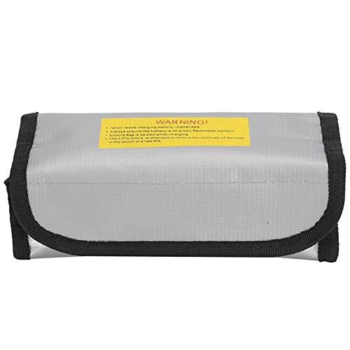 Bolsa Segura para batería de Litio, Bolsa para batería LiPo ignífuga Materiales ignífugos Seguridad Altamente a Prueba de explosiones para Varias baterías de Aviones para Exteriores