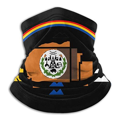 Neck Gaiter Warmer Flag of The Navajo Nation Negro A Prueba De Viento Pañuelos Multifuncionales Polaina De Cuello Adultos Cumpleaños Aire Libre Calentador De Cuello Regalo Duradero