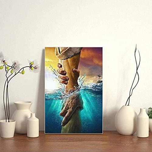 Jesus reaching into water painting _image4