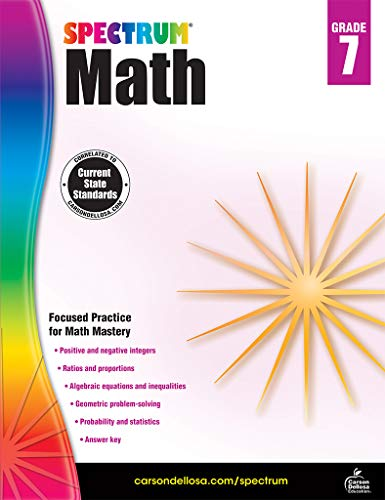 Spectrum | Math Workbook | 7th Grade, 160pgs