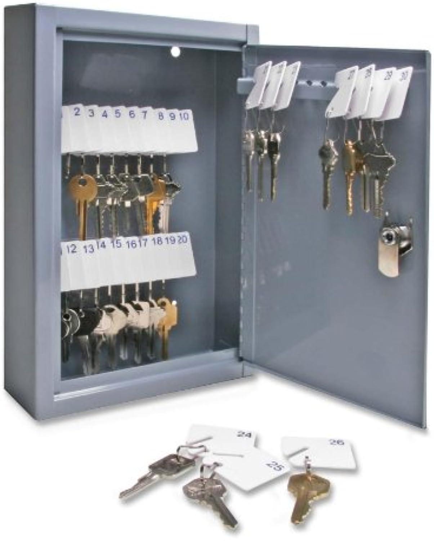 Sparco - Secure Key Cabinet, Key Lock, 8- x2-5 8 x12-1 8 , 30 Keys,GY, Sold as 1 Each, SPR15601