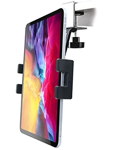 Soporte Tablet de Cocina, woleyi Soporte Tablet bajo Armario Cocina Mueble Libro de Fácil instalación, para iPad Pro 12.9 10.5 9.7 Air Mini, Samsung Tab, iPhone 12 11 Pro MAX y 4-13' Móvil & Tablet