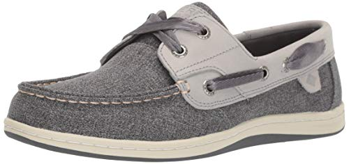 Sperry Womens Koifish Sparkle Chambray Boat Shoe, Grey, 5.5