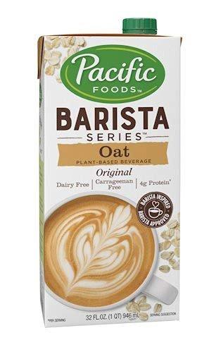 Pacific Natural Foods Oat Milk Barista Series-Non-Dairy Gluten Free- 32 oz ea- case of 4