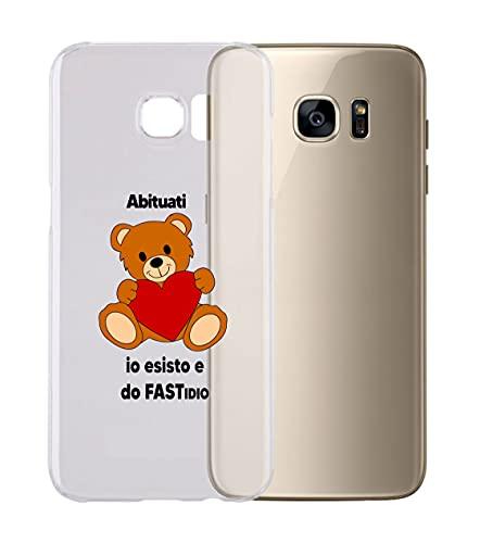 Cover cover compatibile con tutti i modelli di Samsung - ABITUATI IO ESISTO E DO FASTIDIO - con protezione della FOTOCAMERA Custodia TRASPARENTE Ultra Sottile (S9 PLUS)
