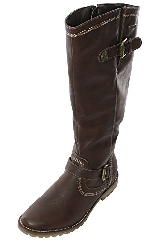 Arizona Stiefel Damen Schuhe Boots Stiefeletten Bikerstiefel, Farbe:braun;Schuhgrößen:38