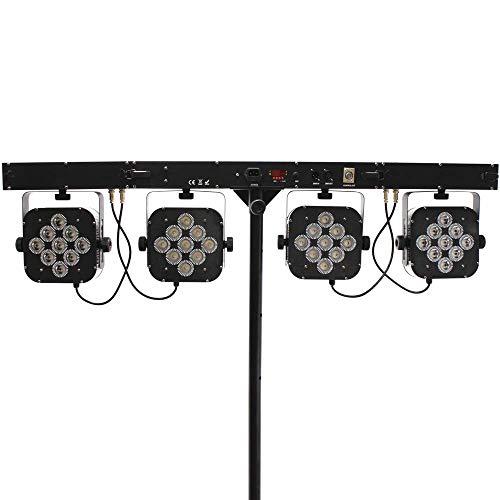 Cablematic 4 bar 9 LED PAR56 lamp 3 W RGB DMX512