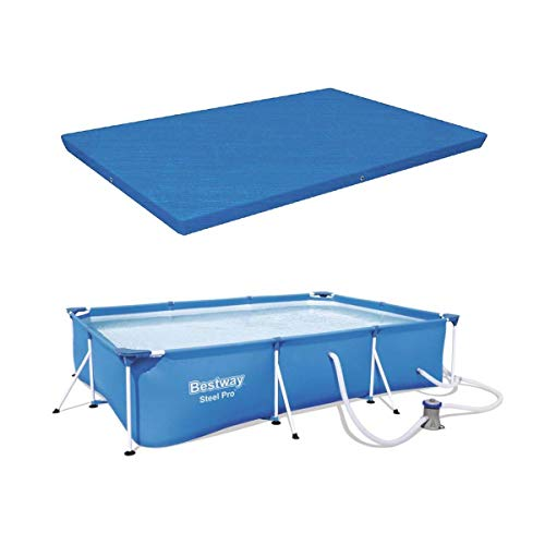 Bestway Pro 10ft x 6.5ft x 26in Frame Swimming Pool Set with Debris Tarp Cover