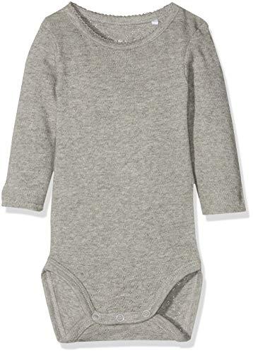 NAME IT NAME IT Baby-Mädchen NBFVITTE LS Body NOOS Strampler, Grau (Grey Melange), 74