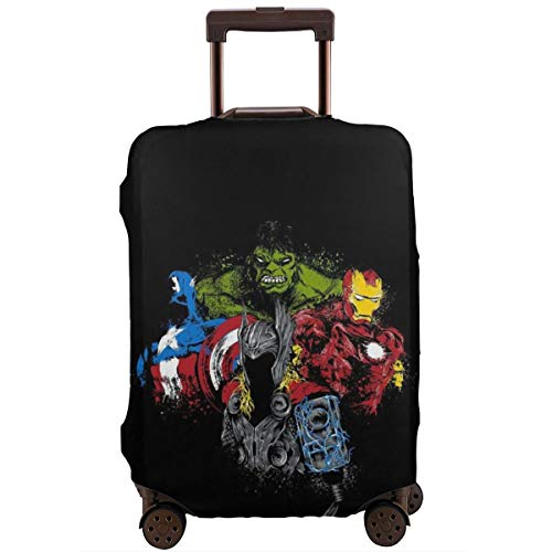 Funda de equipaje de viaje Hulk y Capitán América funda protectora lavable equipaje fundas 18 – 32 pulgadas