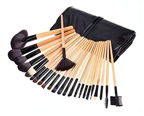 Pinceau De Maquillage, 24 Pinceaux De Maquillage Professionnels, Ensemble De Pinceaux De Maquillage En Bois Et Sac De Rangement Pour Pinceau De Maquillage Outils De Beauté