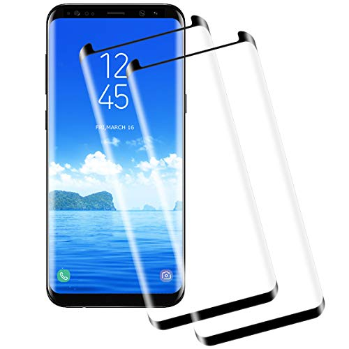 Miuphro Screen Protector for Samsung Galaxy S8[2 Pack],Samsung Galaxy S8 Tempered Glass, Anti-Fingerprint+ 9H Hardness+ Crystal Clear Bubble Free+ Anti-Scratch