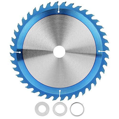 Hoja de sierra circular, hoja de corte de acero de alta velocidad, disco de corte de madera TCT chapado en azul recubierto de azul 250x3.0x30x40T para cortar baldosas, acero, aluminio, hierro