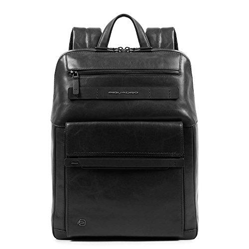Piquadro Cube Casual Daypack, 38 cm, Black (Nero)