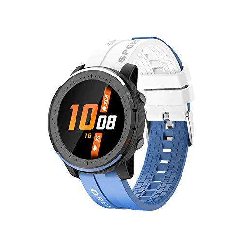 Reloj inteligente de llamada inalámbrica,pulsera inteligente control de música de dos colores, contador de pasos monitoreo del sueño con modo de múltiples movimientos, control remoto a prueba de agua