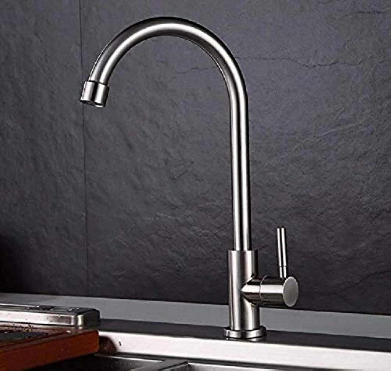 Retro Wasserhahn Klicken Sie, um die erweiterte Ansicht zu ffnen Küchenarmatur Küchenarmatur aus Edelstahl 304 Spültischarmatur Home Pack für kaltes Wasser Waschbecken