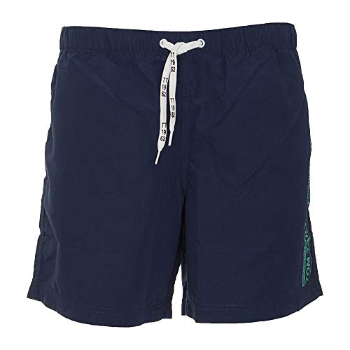 Tom Tailor Casual Swimshorts Pantalones Cortos, Multicolor (Blue Coral Printed S 17782), 48 (Talla del Fabricante: Small) para Hombre