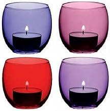 LSA International Coro Votive Holder, H2.5, Berry Assorted X 4, Purple