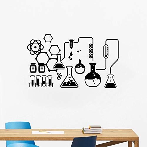 Pegatinas de pared de vinilo de laboratorio de química de ciencia, paredes de laboratorio de escuela de arte, pegatinas de pared de química de ciencia