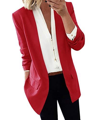 ORANDESIGNE Mujer Blazer Elegante Oficina Traje de Chaqueta Outwear Casual