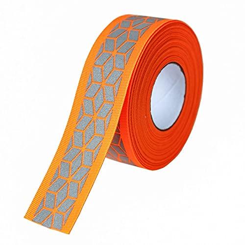 AILIFE Cinta reflectante de plata de la tela de la cinta DIY de las correas para la ropa cosen los 3cm 2meter