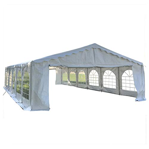 DELTA Canopies Budget PVC Party Tent Canopy Shelter 40'x20' - White
