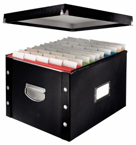 Leitz 60670095 Archiv-Hängebox Snap'n'Store, Hartpappe, schwarz