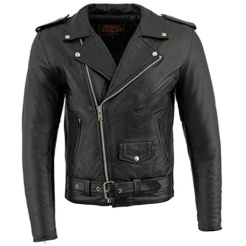 Milwaukee Leather LKM1781 Men's Classic Police Style Black...