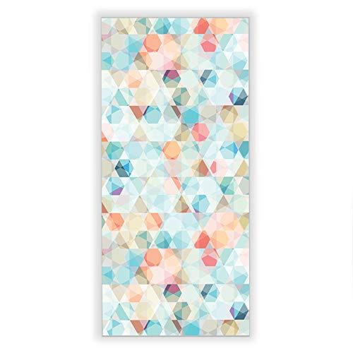 Banjado Wechselscheibe für IKEA GYLLEN Wandlampe | Glasscheibe für Wandleuchte 56x26cm | Echtglas Motiv Weiße Hexagons | Hochformat