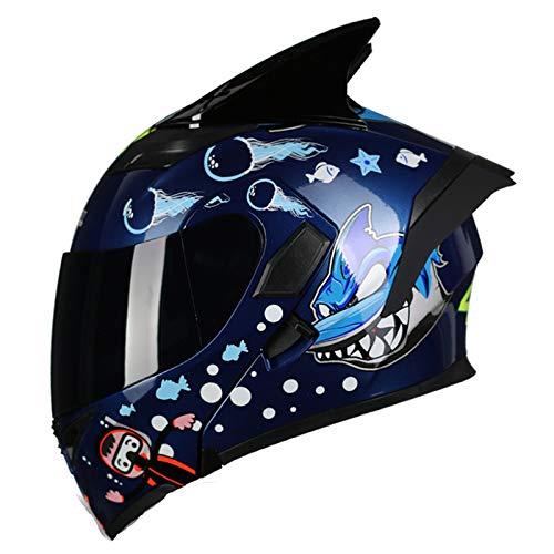GAOZHE Casco De Moto Modular,Motocicleta Scooter Absorbe Impactocertificado Transpirable Universal,ECE Casco Moto Modular ECE Homologado Casco de Moto Integral