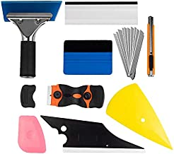 Window Tint Application Tools 1 Set, 9 PCS Window Tint Tools for Vehicle Film Including Window Squeegee, Scraper, Utility Knife and Blades