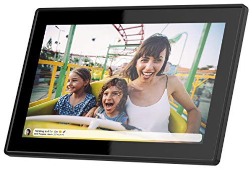 Feelcare 15.6 Inch 16GB WiFi Digital Picture Frame with FHD 1920x1080 IPS Display,Touch Screen,Send Photos or Small Videos from Anywhere in The World, Wall Mountable, Portrait and Landscape(Black)