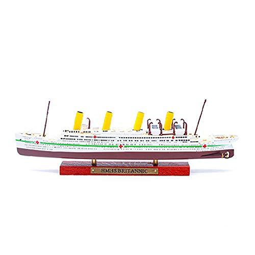 Lllunimon 1/1500 HMHS Británica Crucero Modelo Modelo de aleación Diecast Simulación Modelos de Barco Colección Decoración