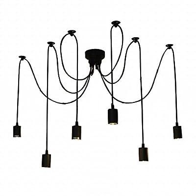 Lightess Vintage Multiple Ajustable DIY Ceiling Spider Pendant Lighting Chandelier