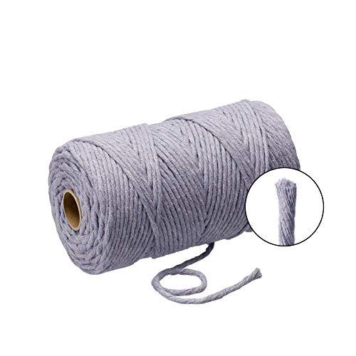 Lieblingsgarn Filani Premium Makramee Garn aus Baumwolle 3mm Single Twist Lavender