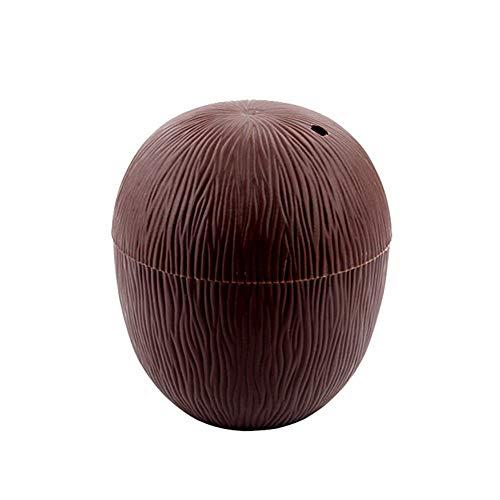 Keebgyy 10 vasos de plástico de coco, hawaianos para la prevención de fugas para la playa tropical, suministros para fiestas temáticas