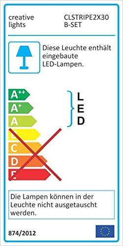 CREATIVE LIGHTS – AQUARIUM MONDLICHT 2 x 30 CM LED LICHTLEISTE + DIMMER KOMPLETTSET INKL. NETZTEIL FLEXI-SLIM BLAU - 5